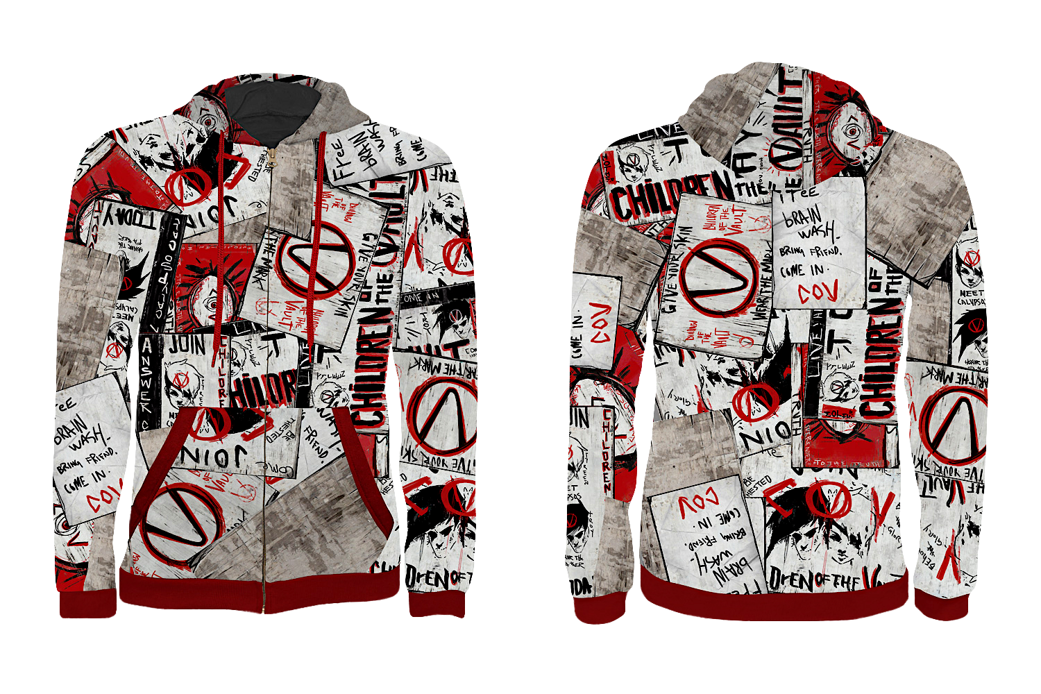 Borderlands 3 Zip-Up Hoodie: Propaganda