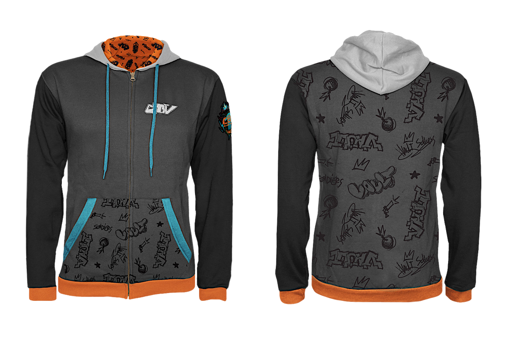 Borderlands 3 Zip-Up Hoodie: Vault Style