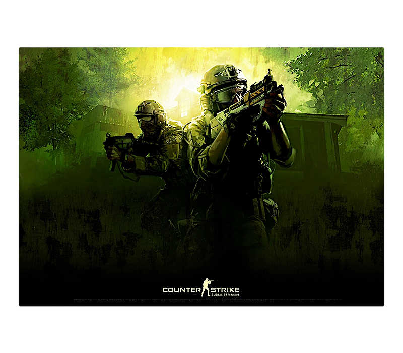 Counter-Strike Poster: Global Offensive Green