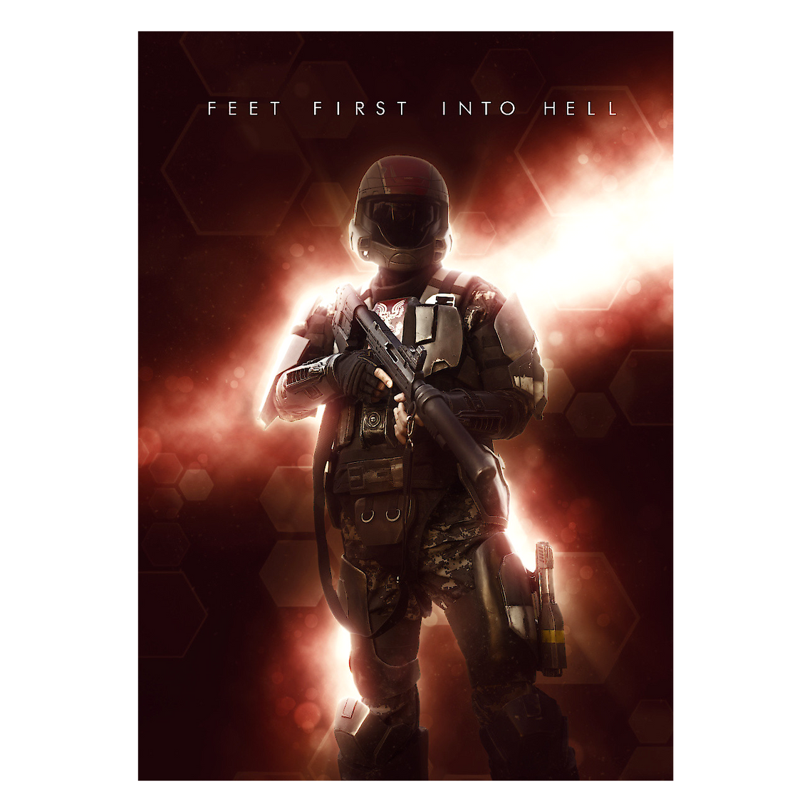 Halo Metallposter: Feet First into Hell