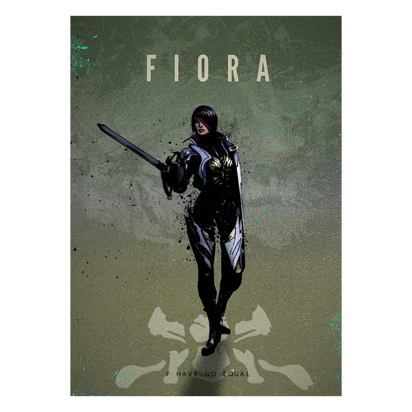 League of Legends Metallposter: Fiora