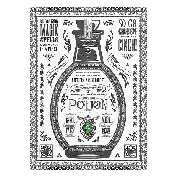 The Legend of Zelda Metallposter: Green Chu Potion