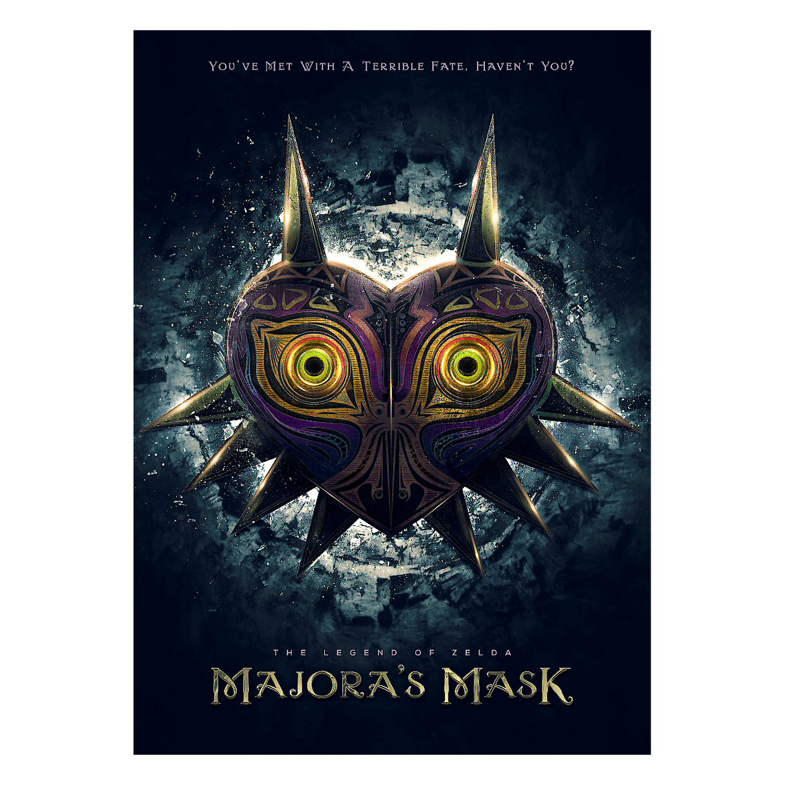 The Legend of Zelda Metallposter: Majora´s Mask