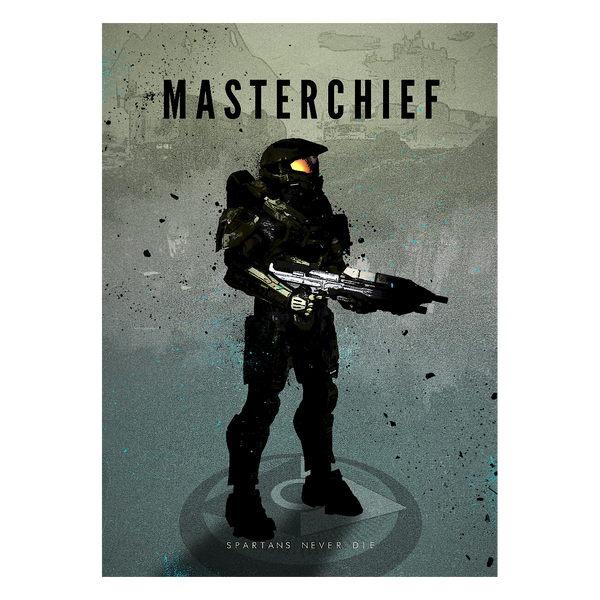 Halo Metallposter: Master Chief I