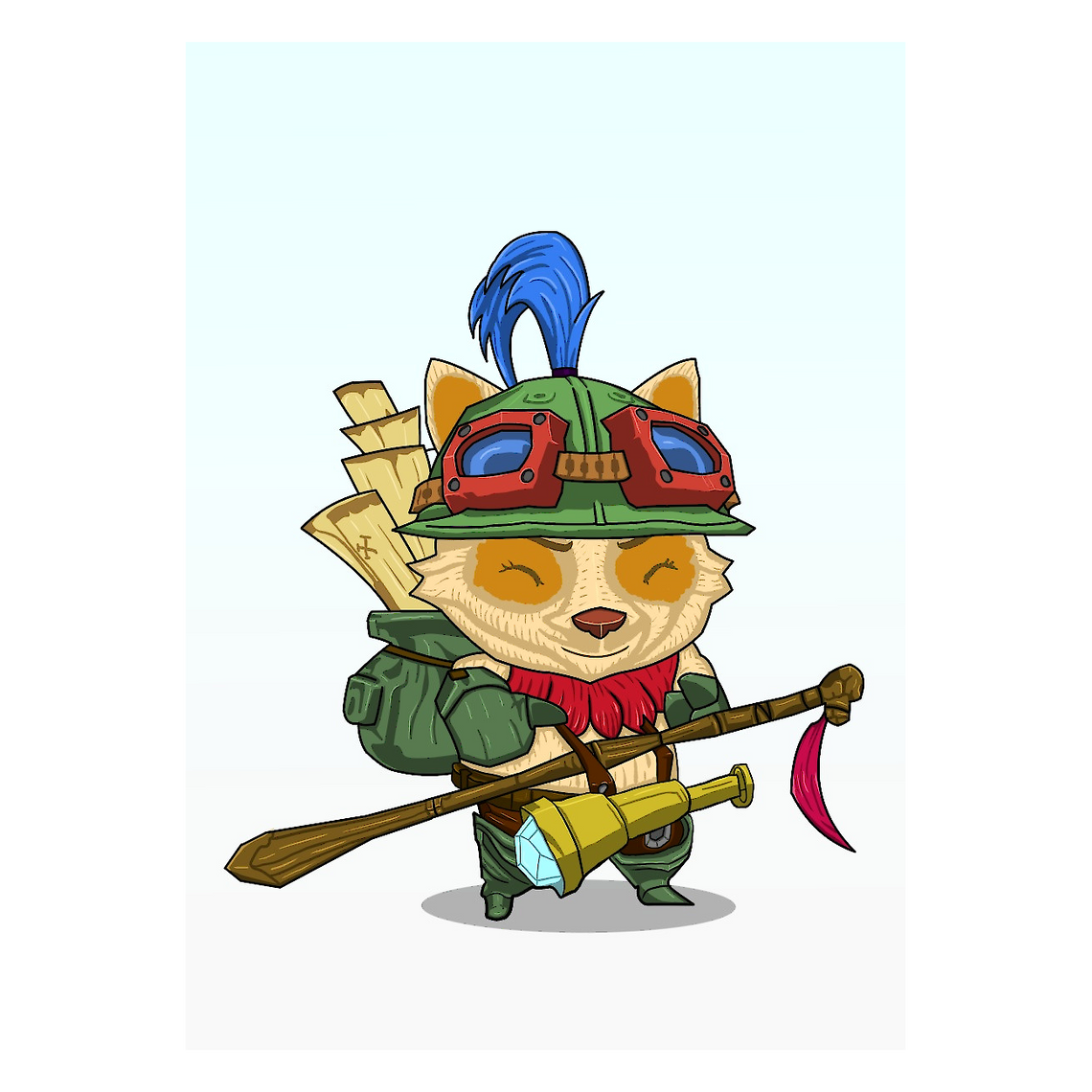 League of Legends Metallposter: Teemo