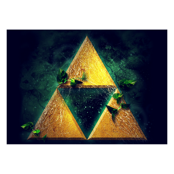 The Legend of Zelda Metallposter: Triforce