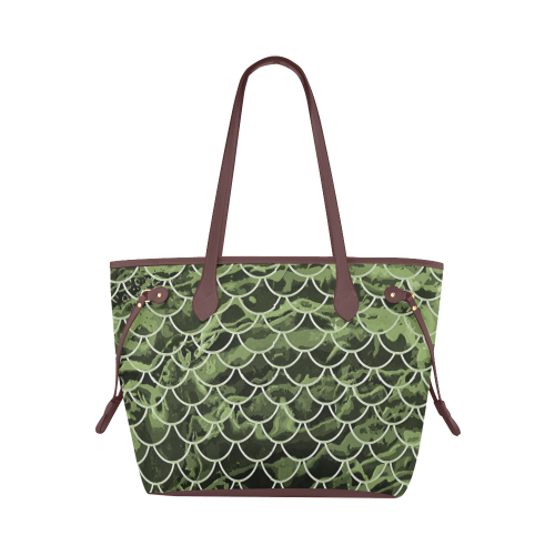 Mermaid Scale Camo Canvas Tote Bag