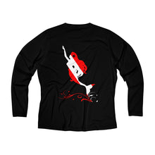 Load image into Gallery viewer, Reel Mermaid Dive Long Sleeve Performance V-neck Tee