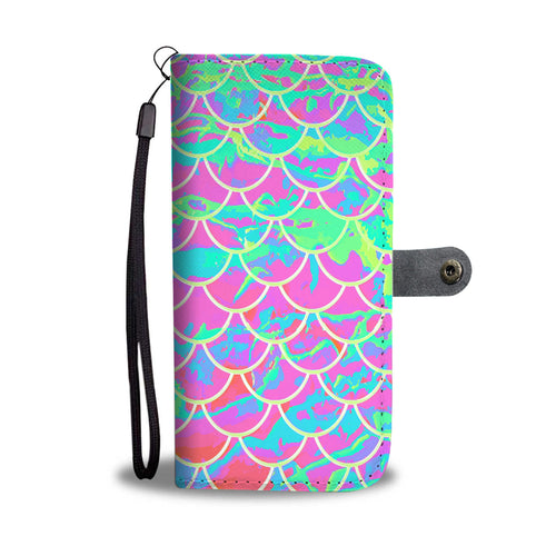 Mermaid Scale Pink Phone Wallet