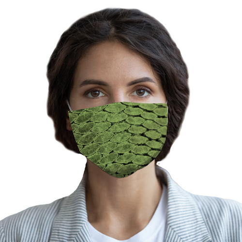 Fish Scale Face Mask with Pocket for Filter