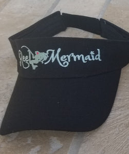 Reel Mermaid Visor Sea Foam Embroidery