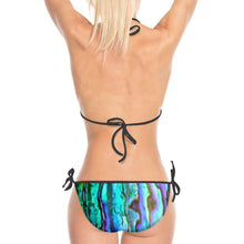Load image into Gallery viewer, Abalone Print Bikini with Black Strings