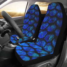 Load image into Gallery viewer, Fishscale_Blue Car Seat Covers (Set of 2)