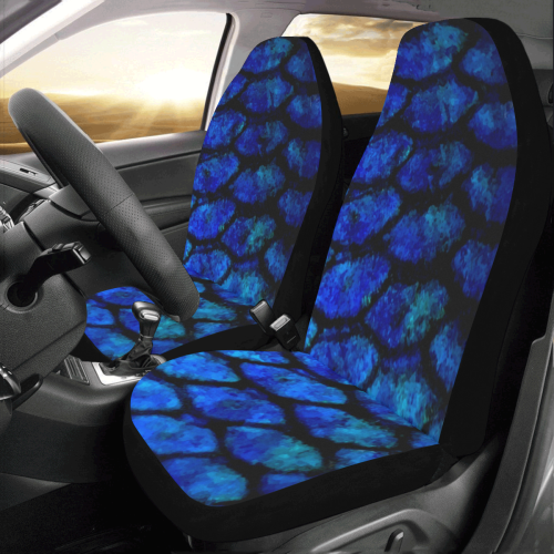 Fishscale_Blue Car Seat Covers (Set of 2)