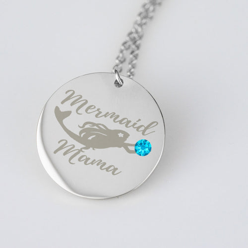 Mermaid Mama Birthstone charm