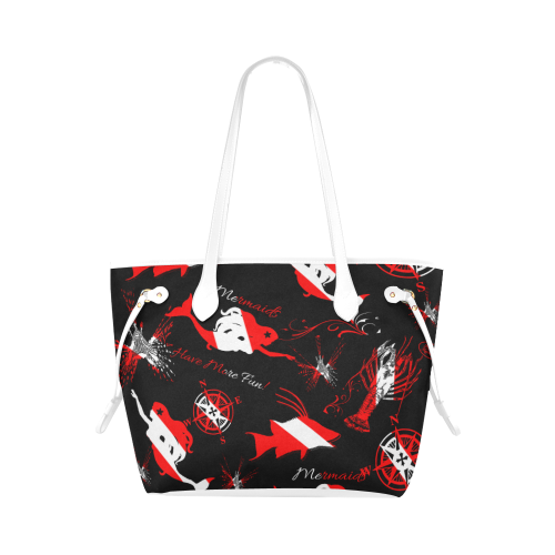 Dive Mermaid Canvas Tote Bag