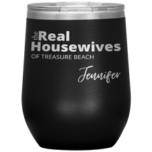 Load image into Gallery viewer, The Real Housewives Wine Tumbler with your location and name - Island Mermaid Tribe