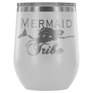 Custom Laser Cut Mermaid Tribe 12oz Wine Tumbler