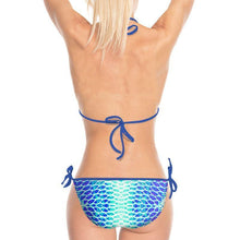 Load image into Gallery viewer, Blue Fish Scale String Bikini - Island Mermaid Tribe