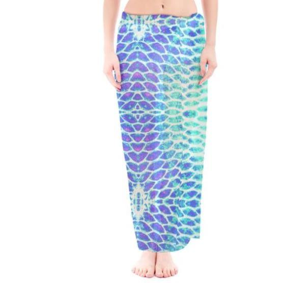 Blue Fish Scale Sarong
