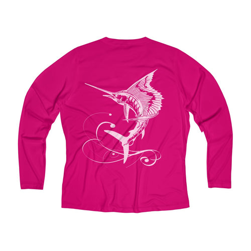 Reel Mermaid Long Sleeve Performance V-neck Tee