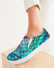 Load image into Gallery viewer, Mermaid Blues Women's Slip-On Canvas Shoe