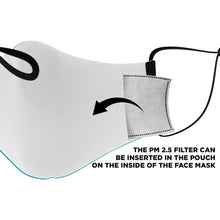 Load image into Gallery viewer, Bahamas Flag Adjustable Face Mask