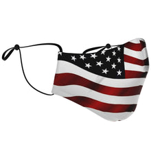 Load image into Gallery viewer, American Flag Face Adjustable Face Mask