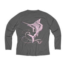 Load image into Gallery viewer, Reel Mermaid Sailfish Long Sleeve Performance V-neck Tee