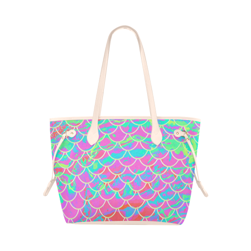 Mermaid Scale Pink Canvas Tote Bag