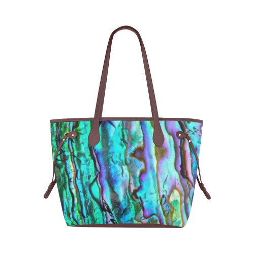 Abalone Print Canvas Tote Bag