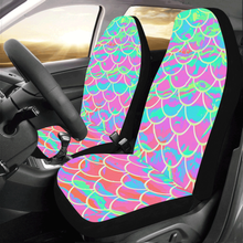 Load image into Gallery viewer, Pink Mermaid Scale Car Seat Covers (Set of 2)