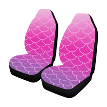 Load image into Gallery viewer, Pink andPurpleOmbreScale Car Seat Covers (Set of 2)