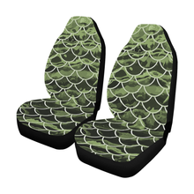Load image into Gallery viewer, Mermaid Scale Camo Car Seat Covers (Set of 2)