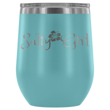 Load image into Gallery viewer, Salty Girl Stainless Steel Wine Tumbler (12 Color Options)