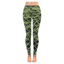 Load image into Gallery viewer, Mermaid Scale Camo Leggings