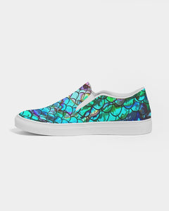 Mermaid Blues Women's Slip-On Canvas Shoe