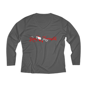 Reel Mermaid Dive Long Sleeve Performance V-neck Tee