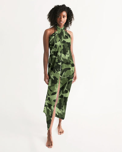 Green Saltwater Camo Swim Cover Up