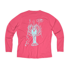Load image into Gallery viewer, Reel Mermaid Spiny Lobster Long Sleeve Performance V-neck Tee