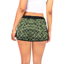 Load image into Gallery viewer, Mermaid Scale Camo Relaxed Shorts