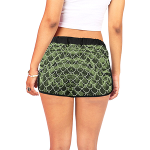 Mermaid Scale Camo Relaxed Shorts
