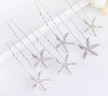 Load image into Gallery viewer, Starfish Hairpins