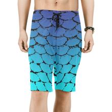 Load image into Gallery viewer, Fish Scales Ombre Men's Board Shorts - Island Mermaid Tribe
