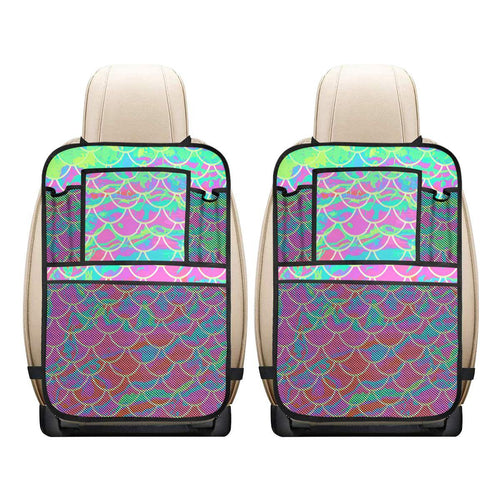 Pink Mermaid Scale Car Seat Back Organizer (2-Pack)
