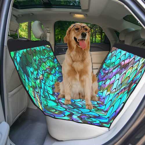 Mermaid Scale Rear Pet Car Seat Cover 55''x58''