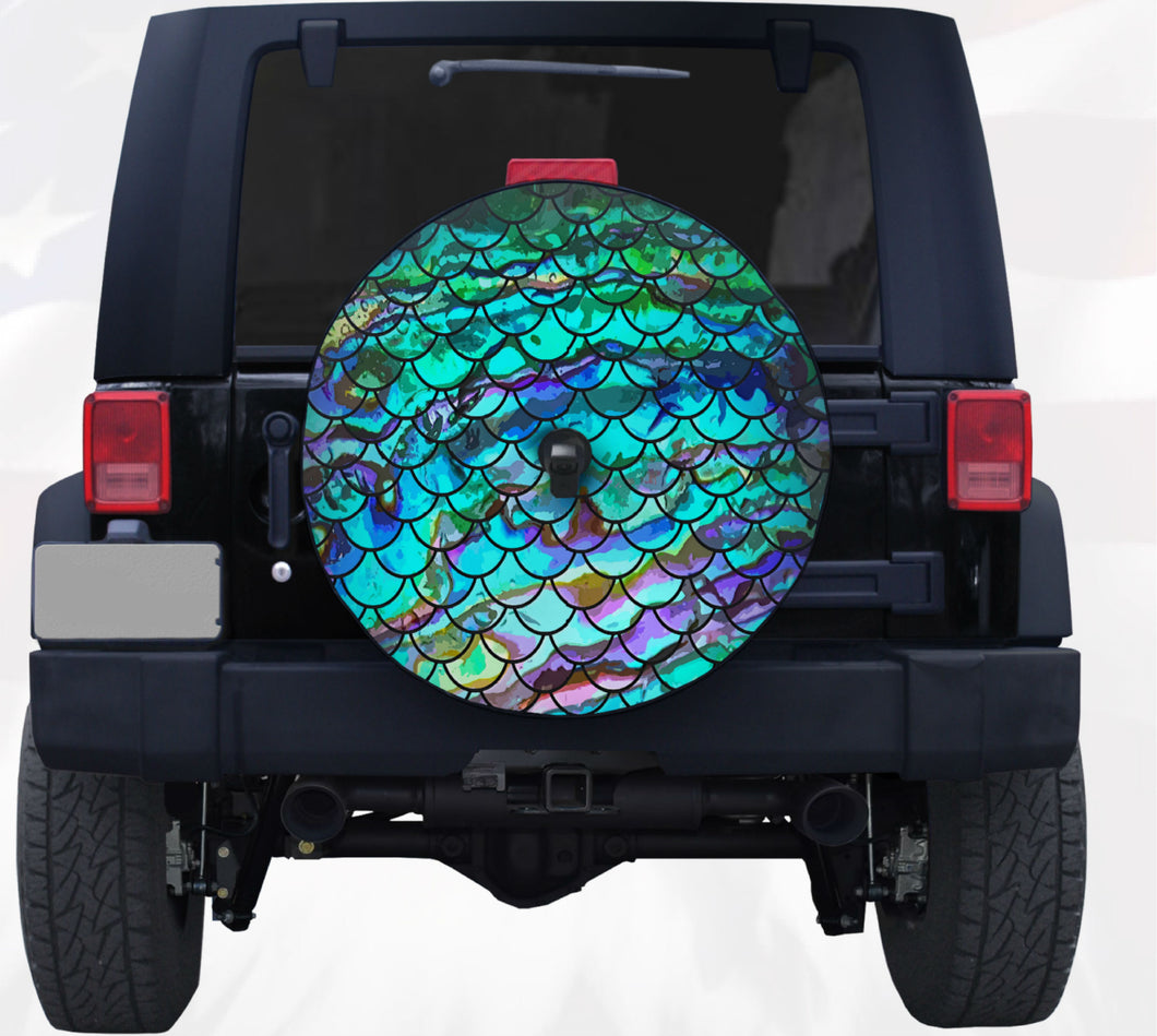 Mermaid Scale Tire Cover