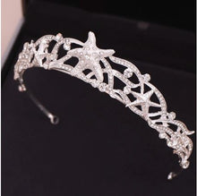 Load image into Gallery viewer, Rhinestone Starfish Tiara Headband