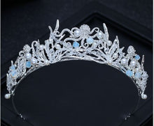 Load image into Gallery viewer, Mermaid Tiara with Crystals and Pearls