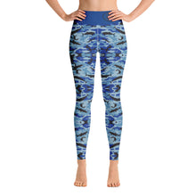 Load image into Gallery viewer, Blue Saltwater Camo Yoga Leggings
